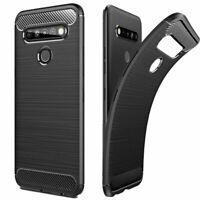 Slim Light Soft Carbon Fiber TPU Case Cover for LG K41s / LG K61