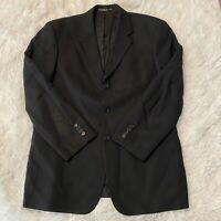 Hugo Boss Mens Size 40S Black Suit Jacket 100% Virign Wool 3 Button Blazer EUC