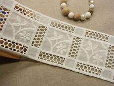 """Best Quality DIY Cotton Lace Trim Vintage Style 10cm(4"""") Wide White 1Yd"""
