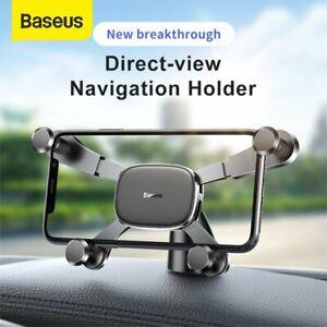 Baseus Gravity Car Phone Holder Dashboard Navigation Mount for iPhone Samsung LG