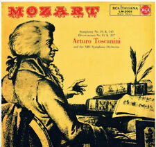 Toscanini: Mozart; Symphony (Sinfonia) N.39, Divertimento K 543  LP Rca LM 20021