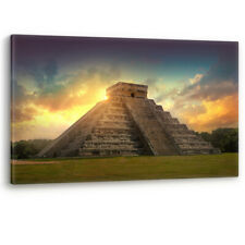 Chichen Itza México azteca maya de Yucatán Sun LONA pared arte Foto impresión A0 A1