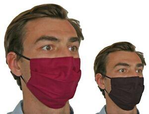 Made in Eu Face Mask Double layer 100% Cotton Pocket Nose clip Washable Reusable