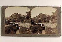 Germania Fiume Ahr Pont 1902 Foto Stereo Vintage Albumina