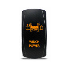 Rocker Switch Winch Power Symbol - Amber LED