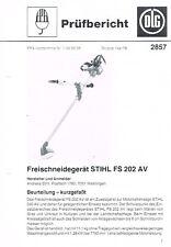 Stihl Freischneidegerät FS 202 AV, orig. DLG- Bericht 1980