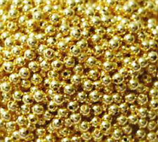100 Gold Plated Round Smooth Beads 3MM