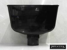 Rainwater Down Pipe Hopper Black for 68mm Round 65mm Square Downpipe