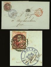 1855 BELGIUM  Folded Letter 40c Sc #8 To Rochecorbon France