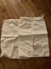 Marni Dust Bag Drawstring Cotton Pouch Dustbags - A pair for shoes