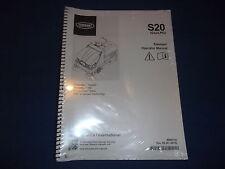 Tennant S20 Spazzatrice Operatore Operazione Cura & Parti Libro Manuale 2 Volume