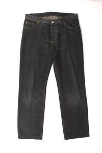 Original Gucci Men Denim Straight Jeans Shortened Grey size 50IT (W34)