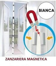 ZANZARIERA TENDA MAGNETICA BIANCO 18 CALAMITE 120x250 CM PER PORTA BALCONE