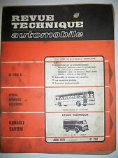 RENAULT SAVIEM SG2 SG4 - Revue Technique Automobile (PEUGEOT 404 SIMCA 1200S)