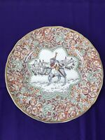 Vintage Mason's Ironstone Plate Chaucer's Canterbury Pilgrims 'The Miller' 1984