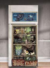 Halloween party pour réfrigérateur porte autocollant set gore zombie décoration