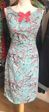 Banned Retro/Banned Apparel Cherry Blossom Pencil Dress Size 10 (S) RRP £40