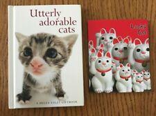 2 novelty gift books for cat lovers Adorable Cats Hanadeka Macfarlane Lucky Cat