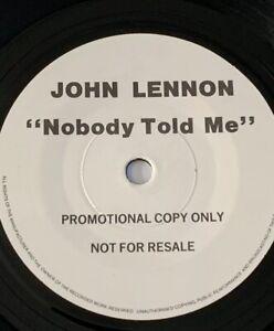 John Lennon 'Nobody Told Me ' One Sided EMI 7' Promo 1984 !!