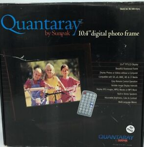 "Quantaray by Sunpak 10.4"" Digital Photo Frame rosewood New opened box"