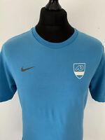 Nike Athletic Department ATHDPT #10 Blue Retro Sports Football Tee T Shirt L