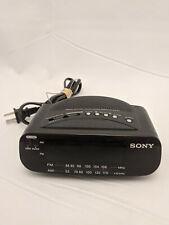 Sony Alarm Clock Radio AM FM Green LED Display ICF-C212 Battery Backup TESTED