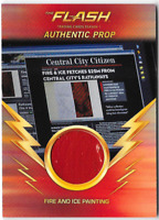 Flash Season 1 prop Relic Costume Card Fire and Ice Painting M26 Red Variant
