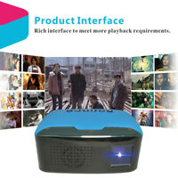 "Full HD 1080P 110"" LED Movies Video Multimedia Mini Portable LCD Projector N7O7"