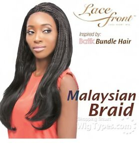 OUTRE SYNTHETIC LACE FRONT BATIK BUNDLE MALAYSIAN BRAID WIG -COLOUR 2 DARK BROWN