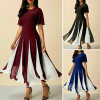 Women Summer Chiffon Casual Long Maxi Party  Beach Dress Sundress