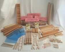 Vintage Dollhouse Making Large Lot Wood Materials Trim Windows Shingles