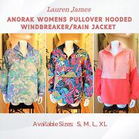 NWT Lauren James Anorak Women's Hooded Pullover lightweight Jacket S, M, L, XL