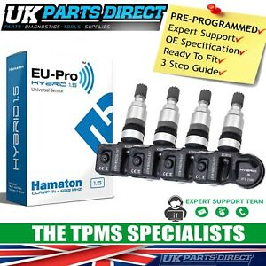 TPMS Tyre Pressure Sensors for Aston Martin Rapide (10-20) - SET OF 4 - CODED