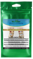 NoFillerSupplements 100% Pure MSM (Methyl‐sulphonyl‐methane) Vegetable Capsules