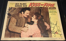 """JACK PALANCE & REX REASON - """"KISS OF FIRE"""" Lobby Card  (1955) - SIGNED by Both"""