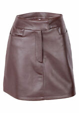Unbranded Leather Patternless Short/Mini Skirts for Women