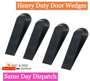 BLACK Door Wedges PLASTIC Heavy Duty Wedge Jam Stops Stopper Home Office