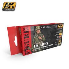 AK Interactive ACRYLIC PAINT SET WWII US ARMY SOLDIER UNIFORM 6 COLOR set