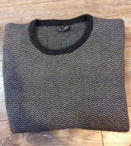 Mens Bonobos Sweather Grey With White Design XXL Thick Material EUC