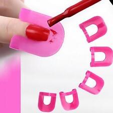 26 piezas CURVADO forma antiderrames Dedo Funda Esmalte de uñas Laca PROTECTOR