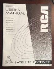 DRD-203RW User's Manual RCA Satellite Receiver (1994,Paper) PreOwnedBook.com