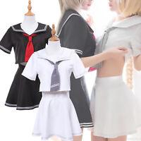 Fate FGO Joan of Arc Jeanne School Sailor Uniform Suit Women Cosplay Costume