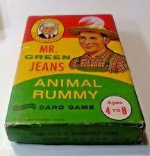 VINTAGE Captain Kangaroo MR. GREEN JEANS Animal Rummy Card Game in Box