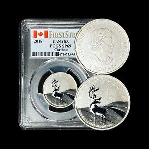 2018 Canada 3 Dollars (Silver) - PCGS SP 69 - Caribou Specimen