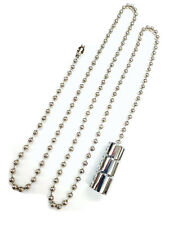 Chrome cord pull with metal non rust chain Light & fan silver bathroom weight