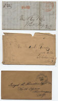 Group of 6 stampless covers NY and VA [y1494]