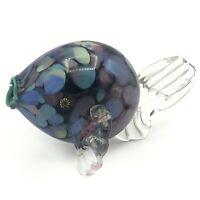 VTG 90s Blow Fish Paperweight Art Glass - Signed Studio Sculpture - Hand Blown