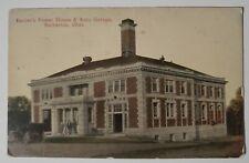 Vintage Postcard Barbers Powerhouse and Auto Garage Barberton Ohio