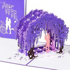 """3D Pop up Hochzeitskarte """"Paar unter Fliederbogen"""", modern, primetea"""