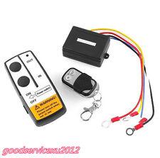 Automobile Off-Road ATV Winch 12V 12 Volt Wireless Remote Control Kit Long Range